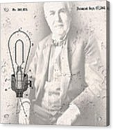 Edison And Electric Lamp Patent Acrylic Print