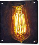 Edison Bulb Acrylic Print by Ann Moeller Steverson