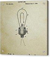 Edison Electric Lamp Patent 3 -  1882 Acrylic Print