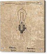 Edison Electric Lamp Patent Marble Acrylic Print