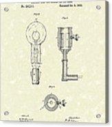 Edison Lamp 1882 Patent Art Acrylic Print by Prior Art Design