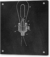 Edison Light Bulb Patent Art Chalkboard Acrylic Print