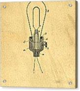 Edison Light Bulb Patent Art Acrylic Print