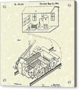 Edison Locomotive 1892 Patent Art Acrylic Print by Prior Art Design
