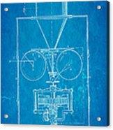 Edison Motion Picture Camera Patent Art 1897 Blueprint Acrylic Print