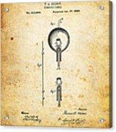 Edison's Patent Acrylic Print by Ricky Barnard
