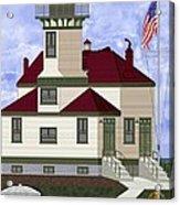Ediz Hook Historical View Redux 2013 Acrylic Print