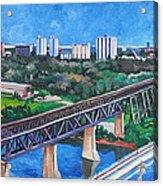 Edmonton Bridges Acrylic Print