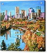 Edmonton In Fall Acrylic Print
