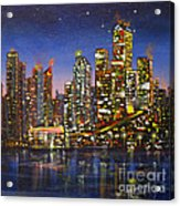 Edmonton Night Lights Acrylic Print