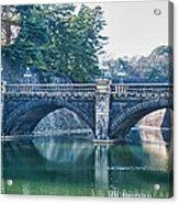 Edo Castle And Nijubashi Bridge Acrylic Print