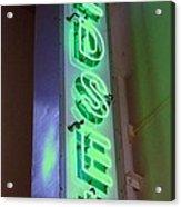 Edsel Sign Aglow Acrylic Print
