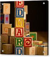 Edward - Alphabet Blocks Acrylic Print
