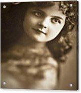 Edwardian Young Girl Acrylic Print by Jan Bickerton