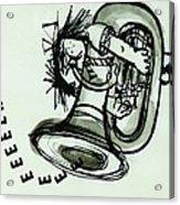 Eeeeeeek! Ink On Paper Acrylic Print