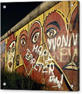 Berlin Wall Hearts Acrylic Print