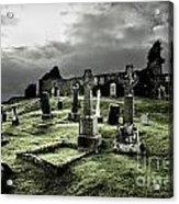 Eerie Cemetery Acrylic Print