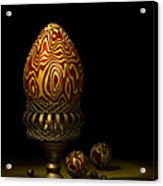 Egg And Marbles Acrylic Print