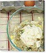 Egg Salad Ingredients Acrylic Print
