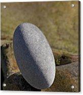 Egg-shaped Stone Acrylic Print