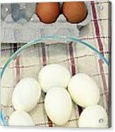 Eggs Boiled And Raw Acrylic Print