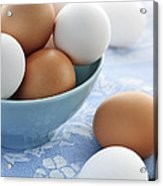 Eggs In Bowl Acrylic Print