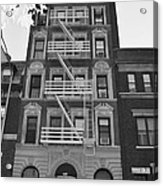 Egress Building In Black And White Acrylic Print