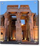 Egypt, Kom Ombo Sunset At The Egyptian Acrylic Print