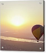 Egypt, View Of Hot Air Balloon Over Acrylic Print