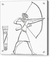 Egyptian Archer And Quiver.  From The Imperial Bible Dictionary, Published 1889 Acrylic Print