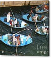 Egyptian Entrepreneurs At The Canal Locks Acrylic Print