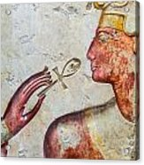 Egyptian Hand With Ankh Acrylic Print