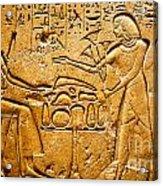 Egyptian Hieroglyphics Acrylic Print