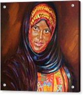 Egyptian Nubian Girl Acrylic Print
