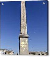 Egyptian Obelisk At The Place De La Concorde In Paris France Acrylic Print