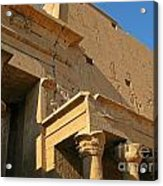 Egyptian Temple Architectural Detail Acrylic Print