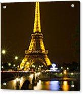 Eiffel At Night Acrylic Print