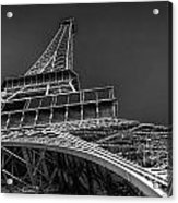 Eiffel In Black And White Acrylic Print