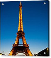 Eiffel Tower At Dusk Acrylic Print