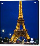 Eiffel Tower By Night Acrylic Print
