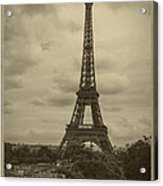 Eiffel Tower Acrylic Print by Debra and Dave Vanderlaan