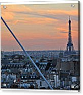 Eiffel Tower From Above Acrylic Print