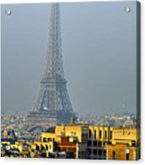 Eiffel Tower From Notre Dame Acrylic Print