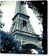 Eiffel Tower In Blue Acrylic Print