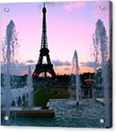 Eiffel Tower In Evening Light Acrylic Print