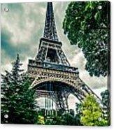 Eiffel Tower In Hdr Acrylic Print