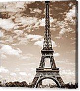 Eiffel Tower In Sepia Acrylic Print