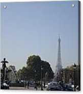 Eiffel Tower In The Distance Acrylic Print