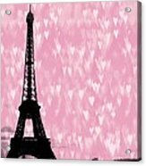 Eiffel Tower - Love In Paris Acrylic Print