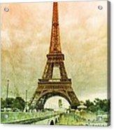Eiffel Tower Mood Acrylic Print